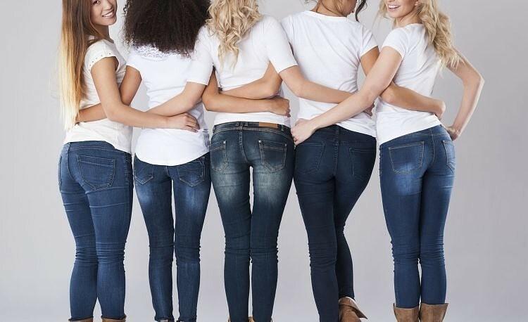 Высота расположения задних карманов джинсов