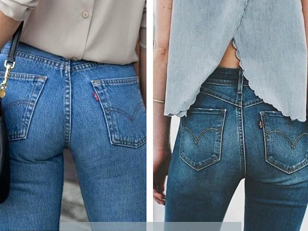Угол наклона задних карманов джинсов