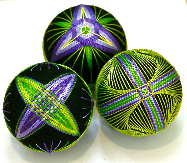 Темари: японская вышивка на шарах