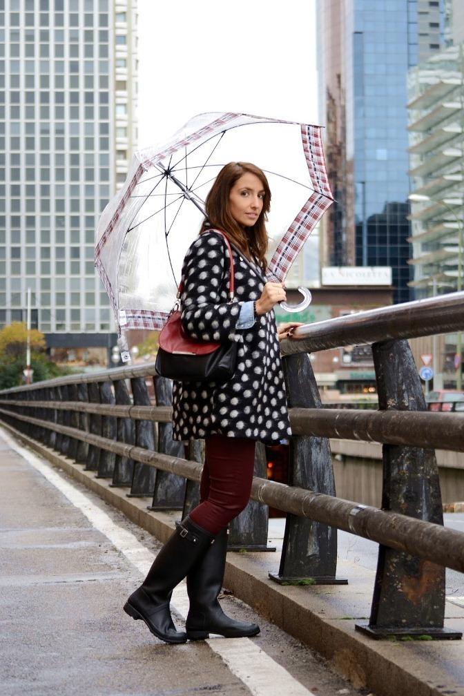 Как красиво одеться в дождь