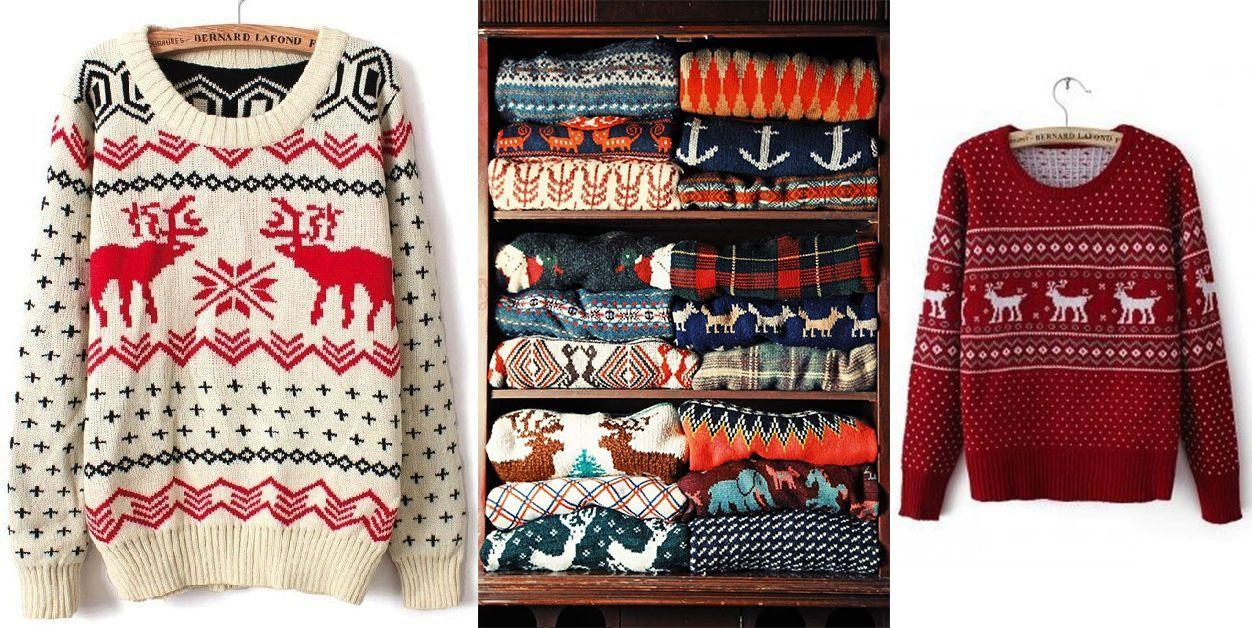 свитера на новый год