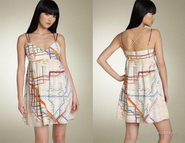 Платье с картой метро