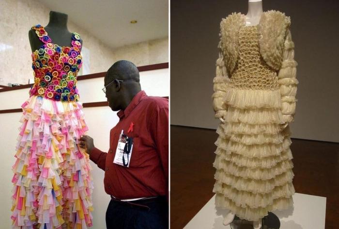 Платье из контрацептивов