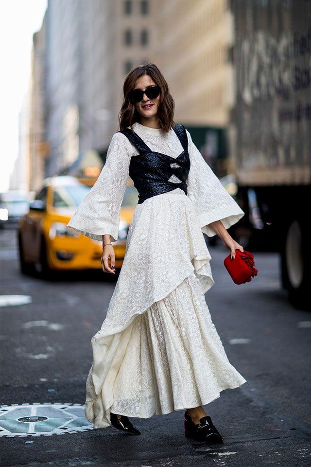 Топ поверх платья