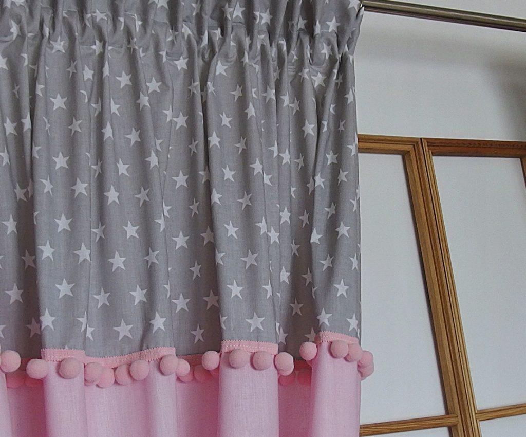 шторы с помпонами