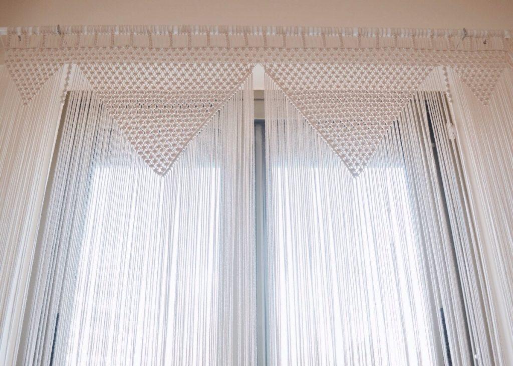 занавес из макраме на шторы