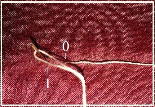 4 При использовании шва бэкстич придерживайтесь – 1