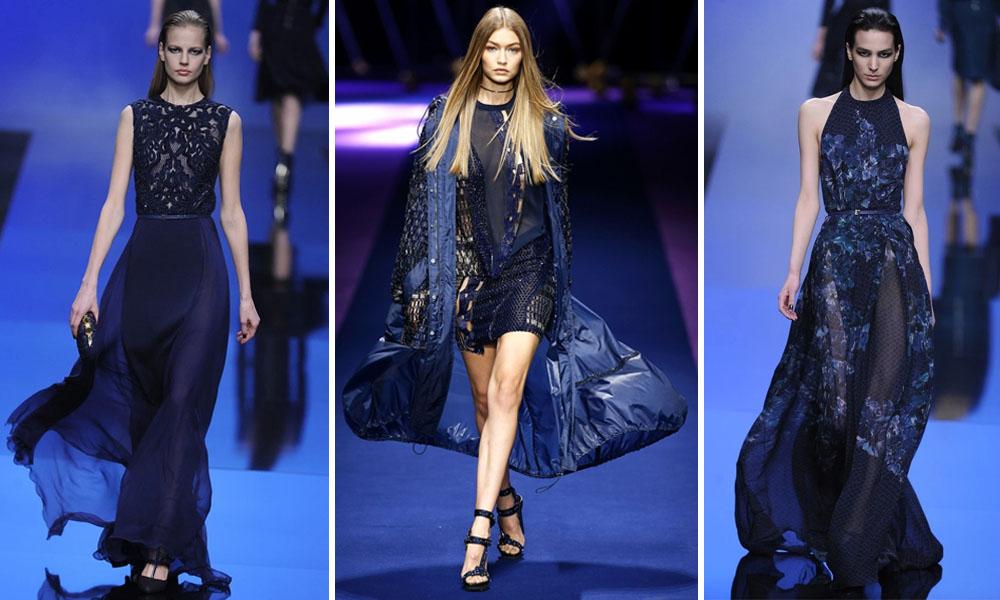 Платья тёмно-синего цвета.
