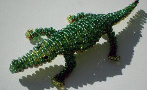 бисерный крокодил