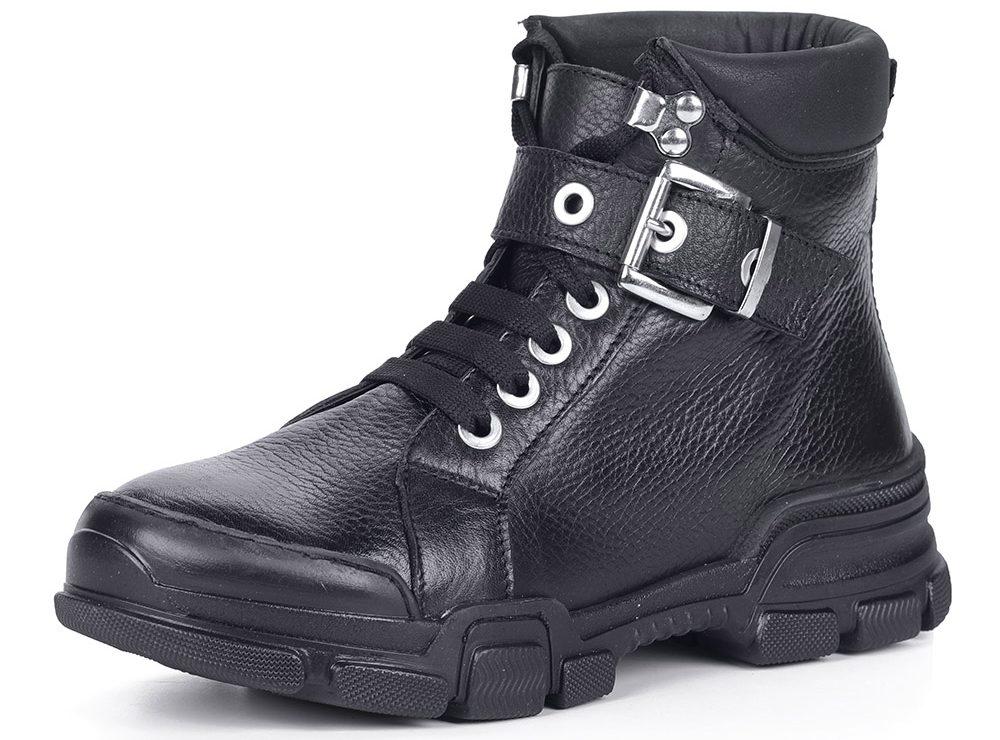 Чёрные ботинки милитари.