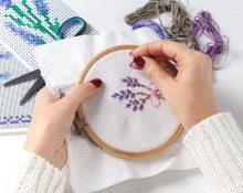 Как вышивать крестиком по канве