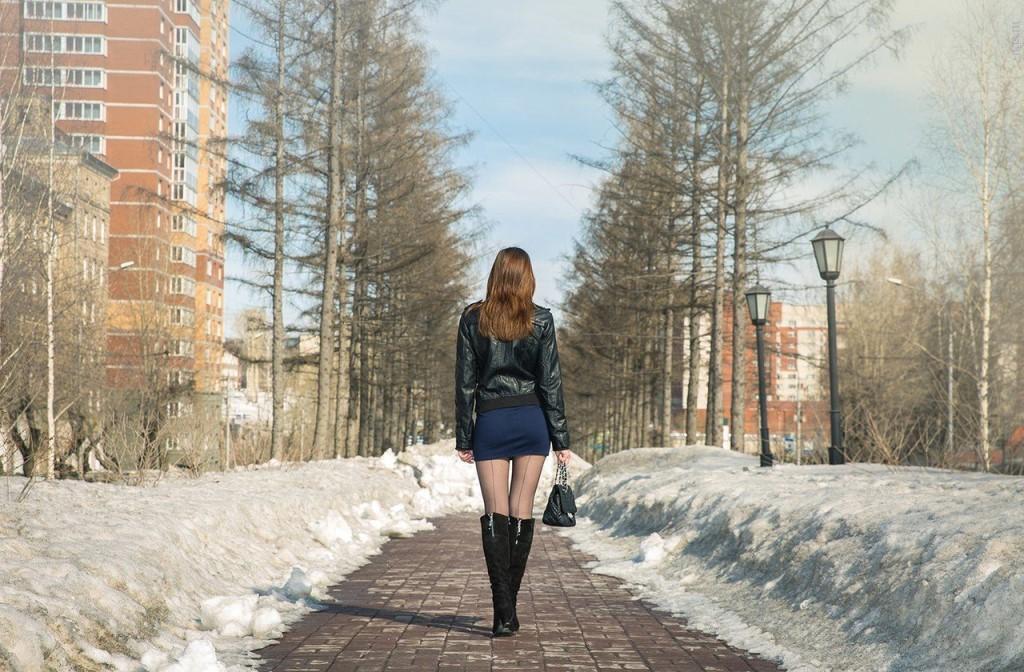 короткие юбки зимой