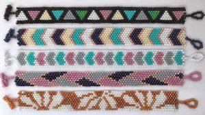 браслеты мозаичным плетением