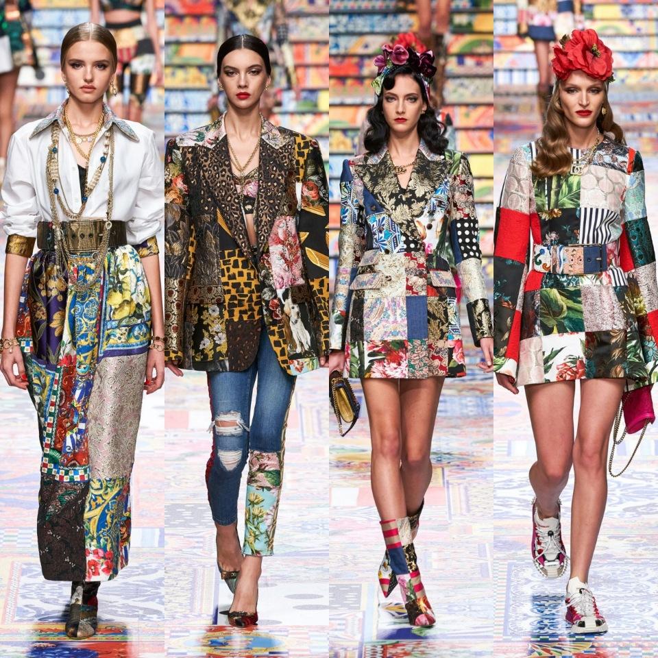 Коллекция Dolce&Gabbana в стиле пэчворк