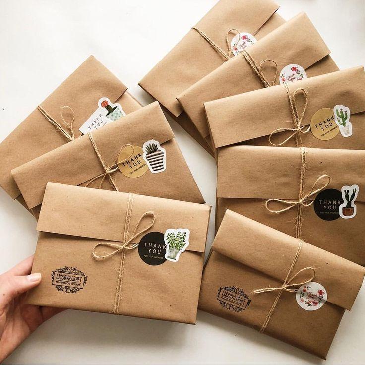 Упаковка товаров в стиле hand made
