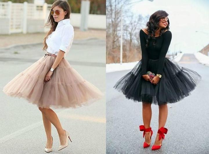 обувь под фатиновую юбку