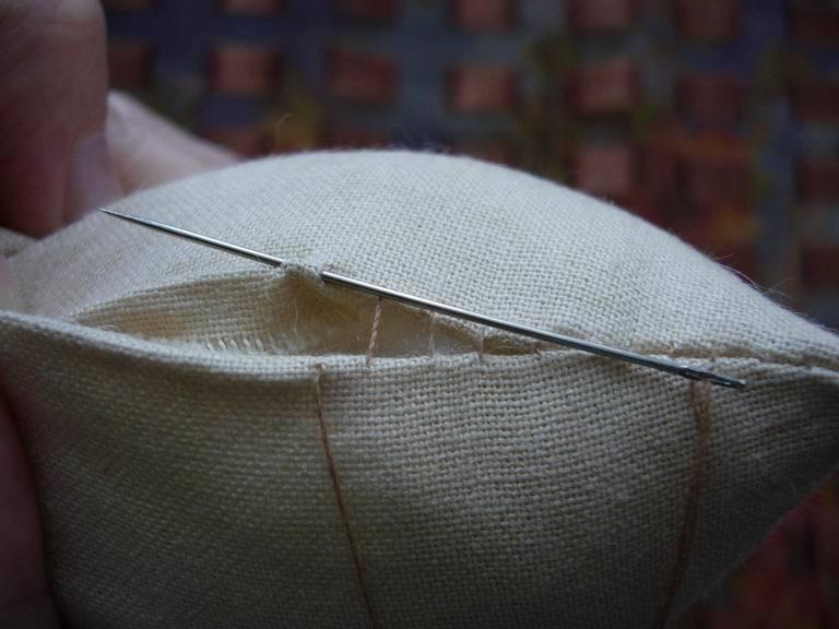 невидимый шов иголкой вручную