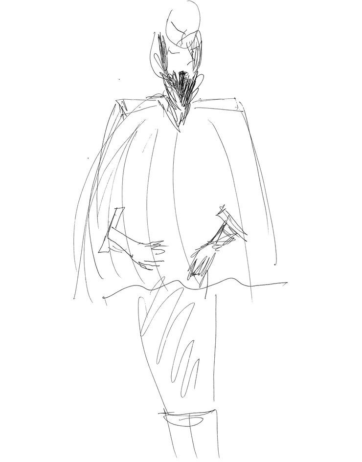 Эскиз костюма от Ренаты Литвиновой