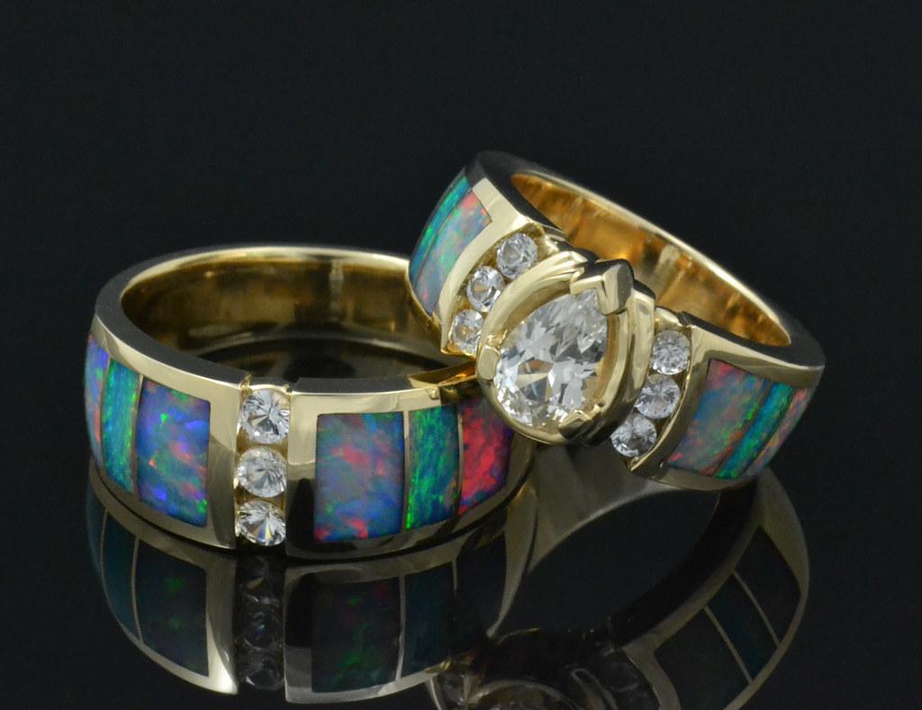 кольца с опалом