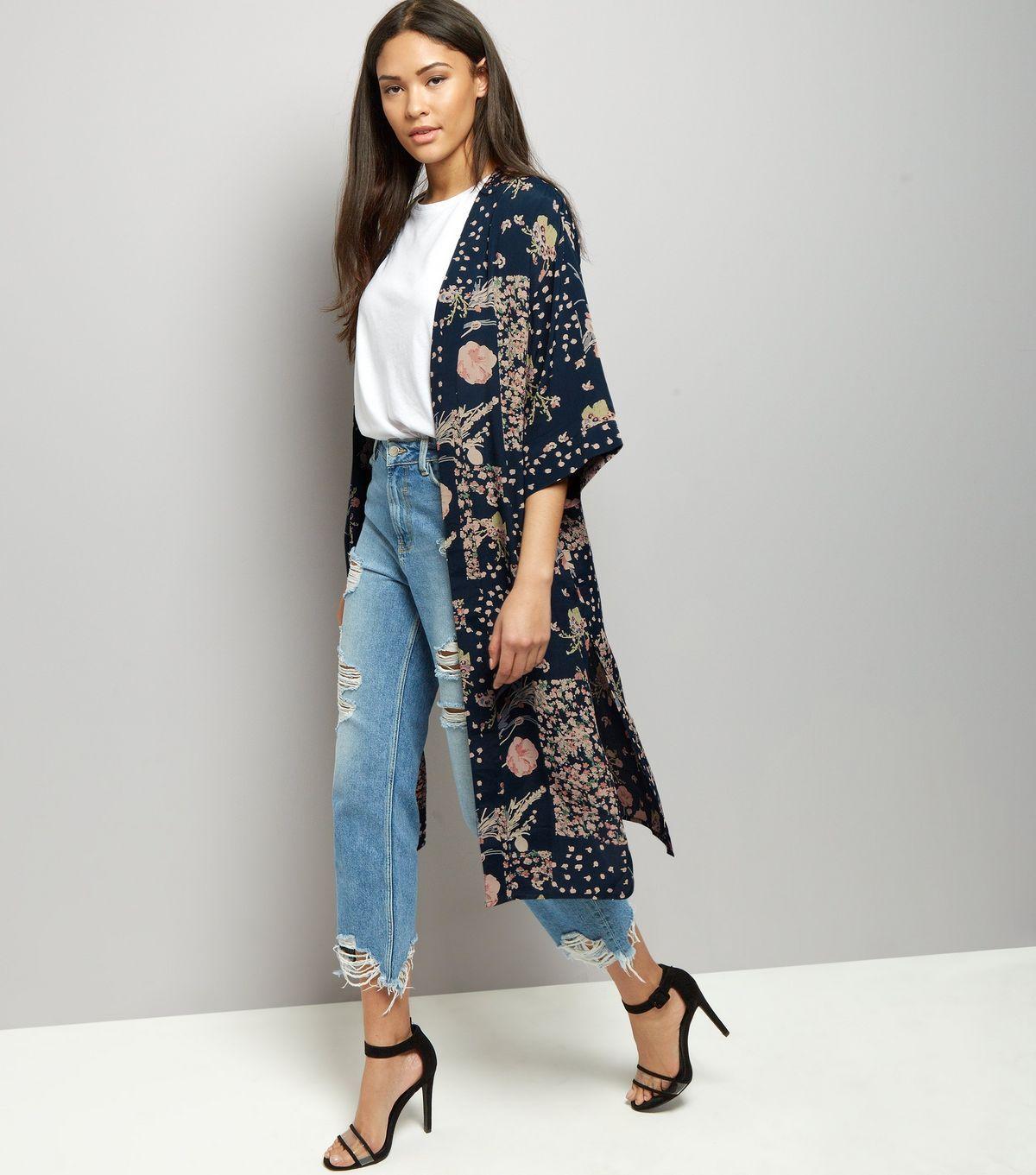 Кимоно с джинсами.