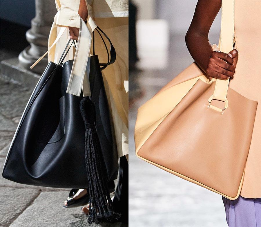 В моду вернулись огромные женские сумки тоут