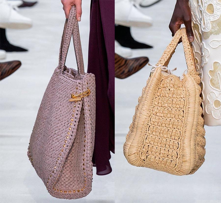 Вязаные и плетёные женские сумки