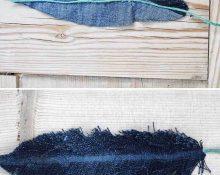 Перья из старой джинсы