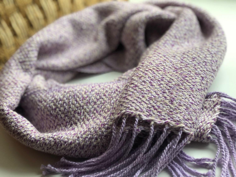 шарф лавандовый
