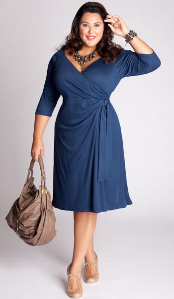 Платье на запах для пышнотелых девушек