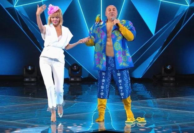 "Валерия и Иосиф Пригожин в шоу ""Маска"""