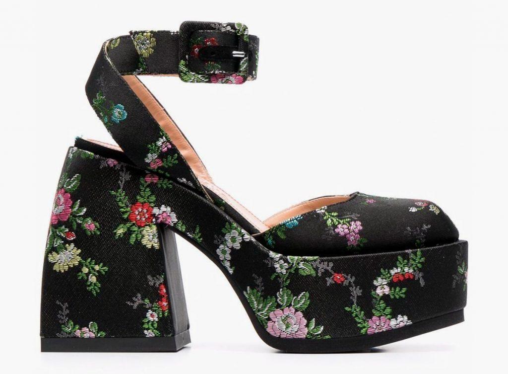 Обувь с цветочным принтом от Nodaleto