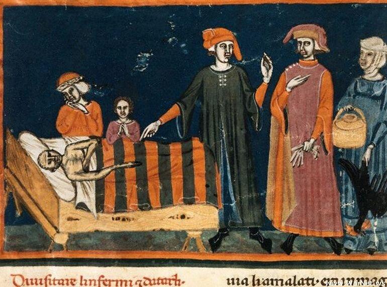 Итальянская фреска «Похороны сатаны».