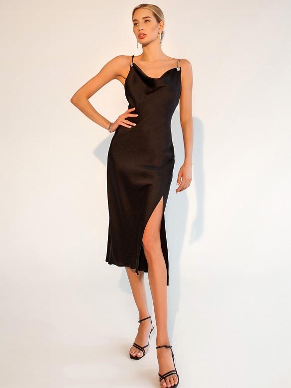 Чёрное платье для выпускного