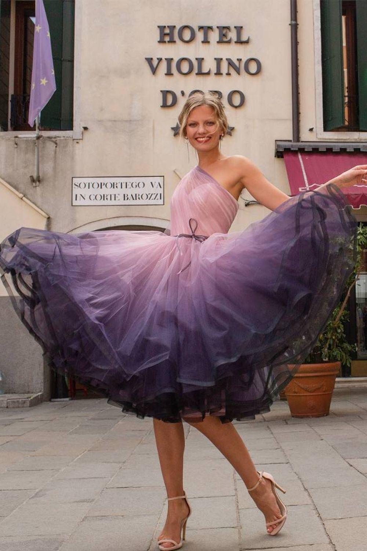 Яркое платье для выпускного