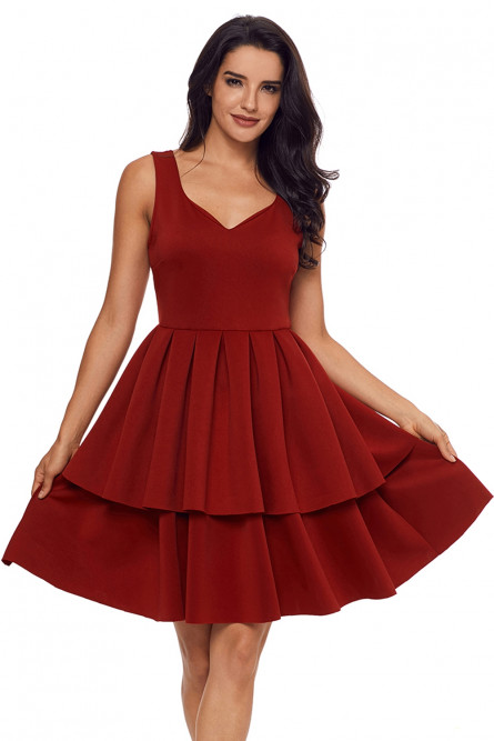 Платье с двойной юбкой.