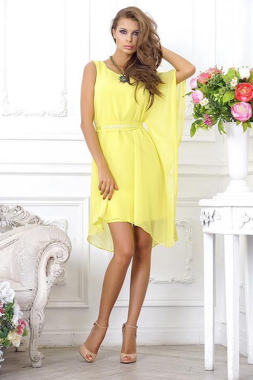 Жёлтое платье.