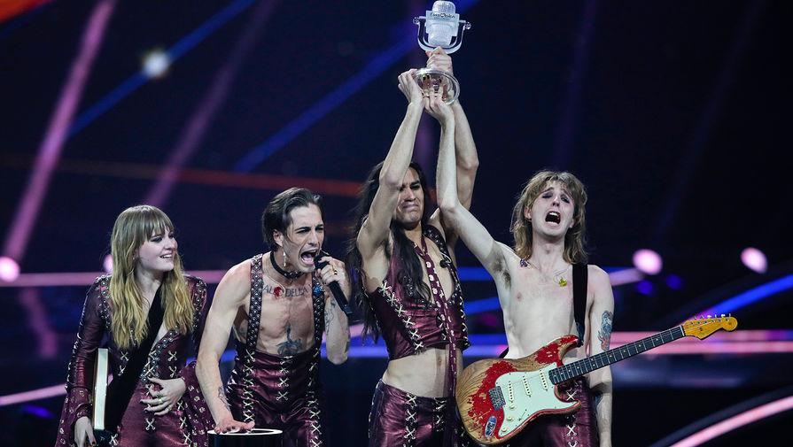 Итальянская группа Maneskin на Евровидении-2021