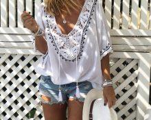 Блузки в стиле бохо