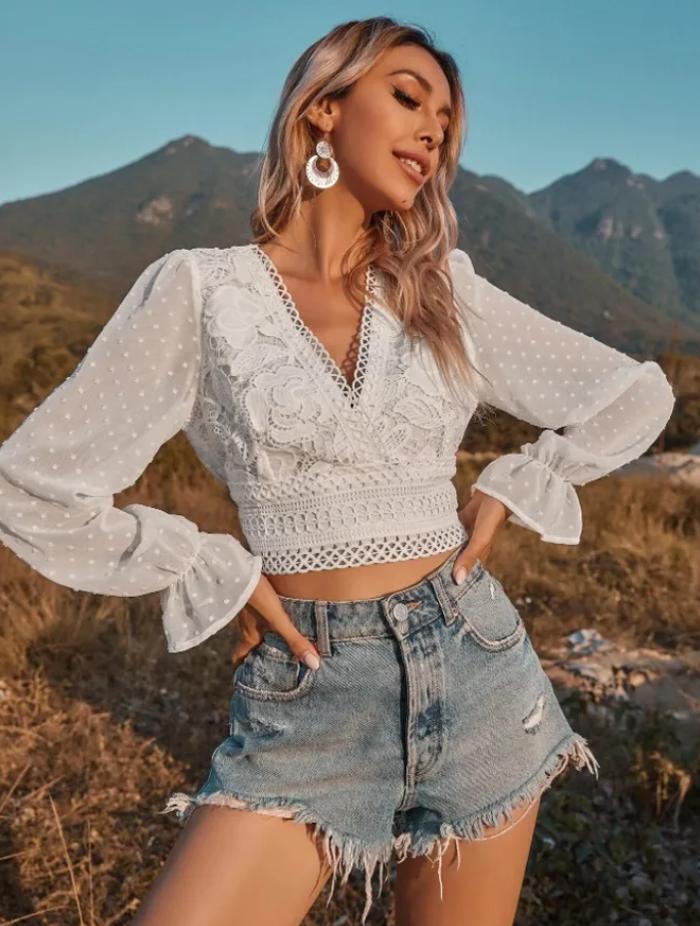 Блузка в стиле бохо от SHEIN