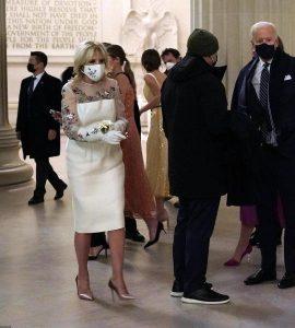 Джилл Байден в платье с сеткой
