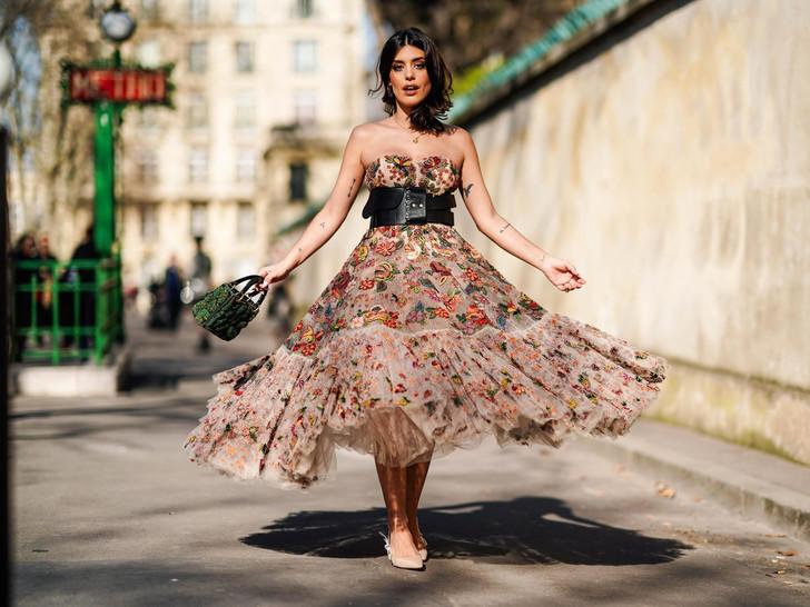 Платья с цветочным принтом